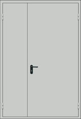 Дверь-противопожарная-двустворчатая